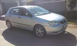 toyota runx 2005 model accident free for sale R55,000
