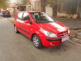 Immaculate condition 2007 Red Hyundai Getz 1.4
