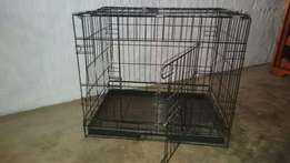Flat folding dog wire cages