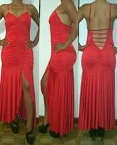 Red evening dress for sale (size 30-32)