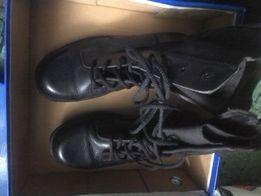 Берці 38 шкіряні демі нові 26см черевики чорні жіночі d01c75214f068