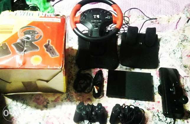 PS2 full set with Steering wheel for sale