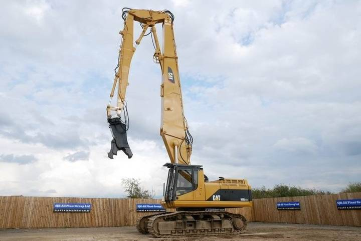 Caterpillar 350l Uhd 26m High Reach Demolition Excavator - 1997