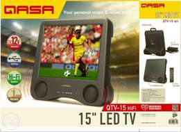 Qasa Electric and Battery Tv led.15inches.