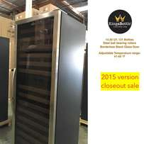 Dual Zone Wine Cooler, Glass Door with Stainless Trim 170DSS