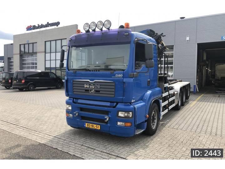 MAN TGA 35.430 XL, Euro 4, Palfinger 27t/m kraan vdl haakarm - 2006
