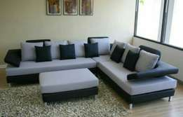 Floating arm 7 seater L sofa