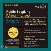 Abuja Public Speaking Master Class