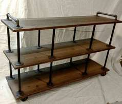 Industrial looking wall unit stands. Brand new design.