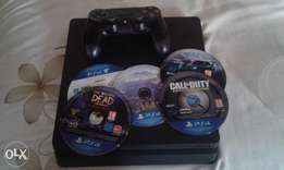 play station 4 500Gb for sale Includes 6 games