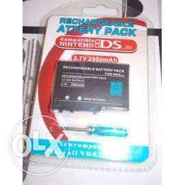 starting 3.3 $ rechargeable batteries for nintendo ds new boxed