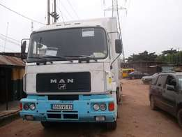 Man truck white color