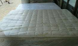 Stunning heavy duty pillow top double base and mattress sets for sale