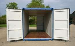 A grade (furniture grade) water tight 20 ft (6 meter) container.