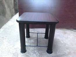 Stool with metal stand