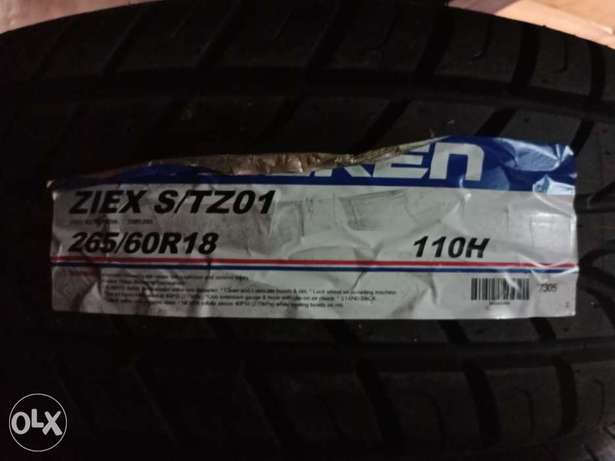265/60R18 brand new Achilles tyres made in Thailand tubeless. Nairobi CBD - image 1
