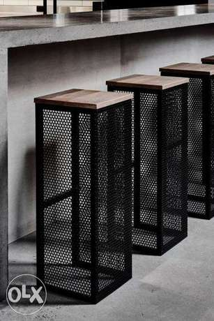 [ Contemporary industrial steel - chairs / bar chairs ]