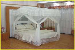 Curved mosquito net