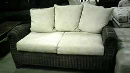 Wicker couch with cushions for sale !