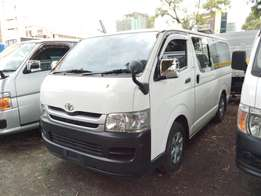 Toyota Hiace 2009 model manual