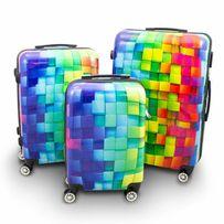 7b74c9fb75ef4 Zestaw 3szt walizek podróżnych COLORFUL DIAMOND