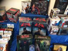 I buy and sell all marvel and D.C. stuff, comics , figures and statues