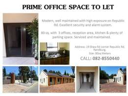 Prime office space to let
