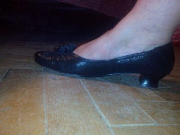 Туфли Lanzoniab черные 37 размера на низком каблуке Одесса - изображение 5