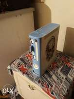 Xbox 360 +5 gamea 1 remote and memory card