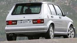 Wanted volkswagen citi golf any model