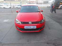 vw polo 6, 1.4 hb 2014 model red colour