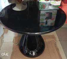 Black U side cut coffee/ end table
