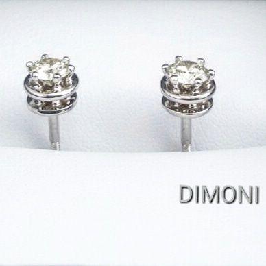 Золотые серьги пуссеты Damiani Minou с бриллиантами 0, 46 ct от Dimoni Киев  - изображение 063bfb12b04