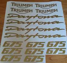 Triumph Daytona 675 675R decals graphics