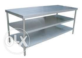 Steel work table forkitchen all size and model