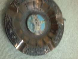 detailed copper ashtray ad488