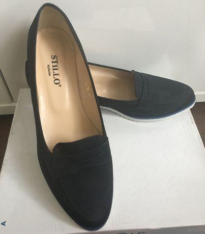 65628b2bf стильные женские туфли лоферы нубук (кожаные), Польша, 39 размер Николаев -  изображение