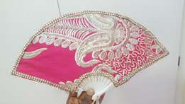 Pink beautiful hand fan