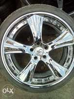 BMW chrome rims