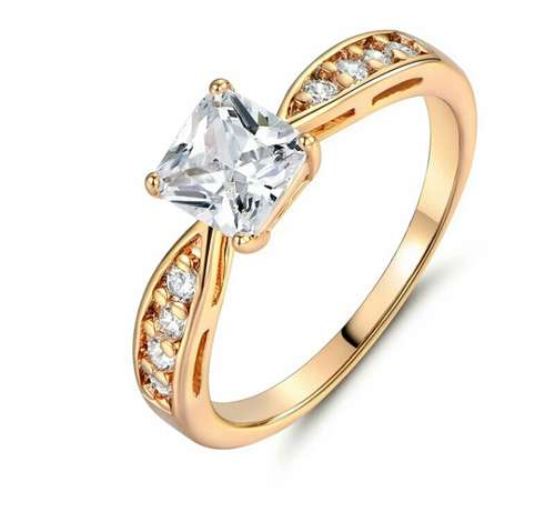 Gold plated engagement ring Owerri Municipal - image 2