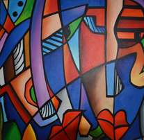 Colourful abstract Faces