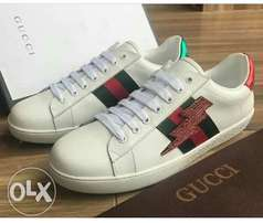 Thunder bolt unisex Gucci white sneakers