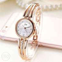 New fashion brand rhinestone stainless watch- Silver & Rose Gold