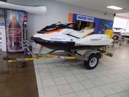 seadoo gti 130 with ibr on trailer