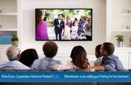 Live streaming for weddings and similar functions