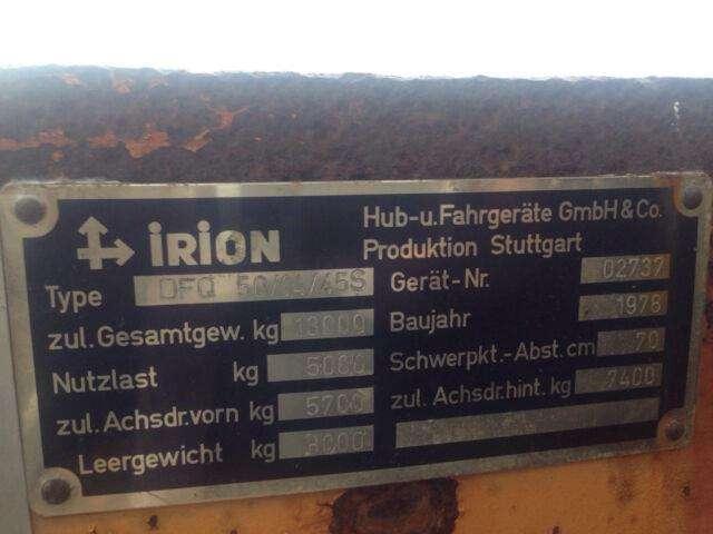 Irion DFQ 50/14/45S, Seitenstapler, German - 1978 - image 9