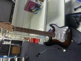 Squier fender bullet strat guitar with fender amp