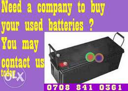 Condemned solar house Battery