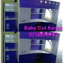 Decke bed with Study, Table Wardrobe Drawers