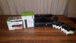 Xbox 360 Slim 250Gb, with loads of games and Kinect